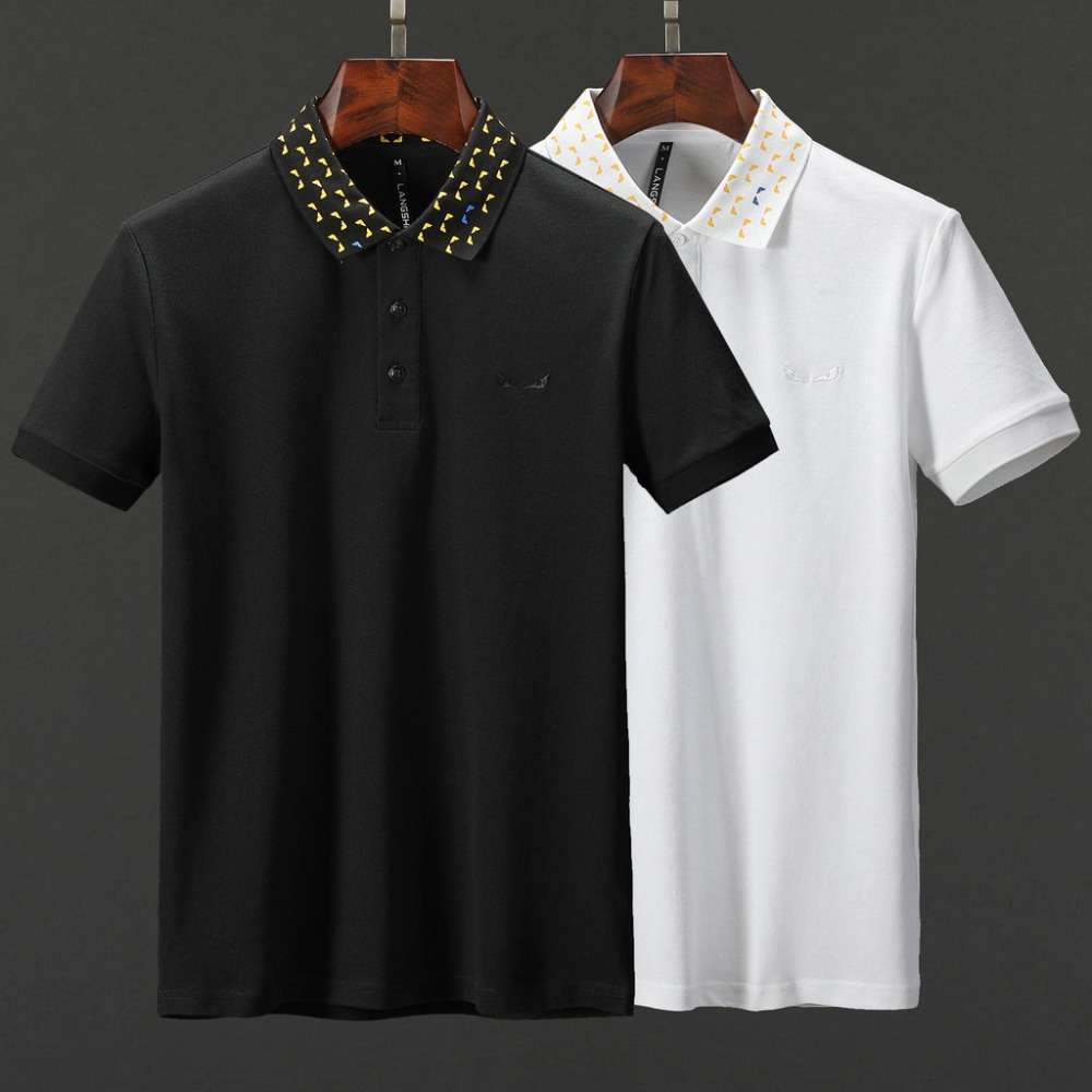 Men   Polo   Shirt 2019 Summer Men Business Casual Breathable White black Short Sleeve   Polo   Shirt brand Cotton Work Clothes   Polos