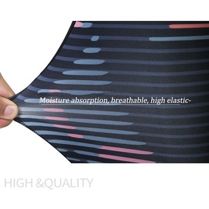 Image 5 - Kadın spor takım elbise baskı spor seti elastik ince spor giyim nefes Yoga seti 2 adet spor T shirt spor tayt eşofman