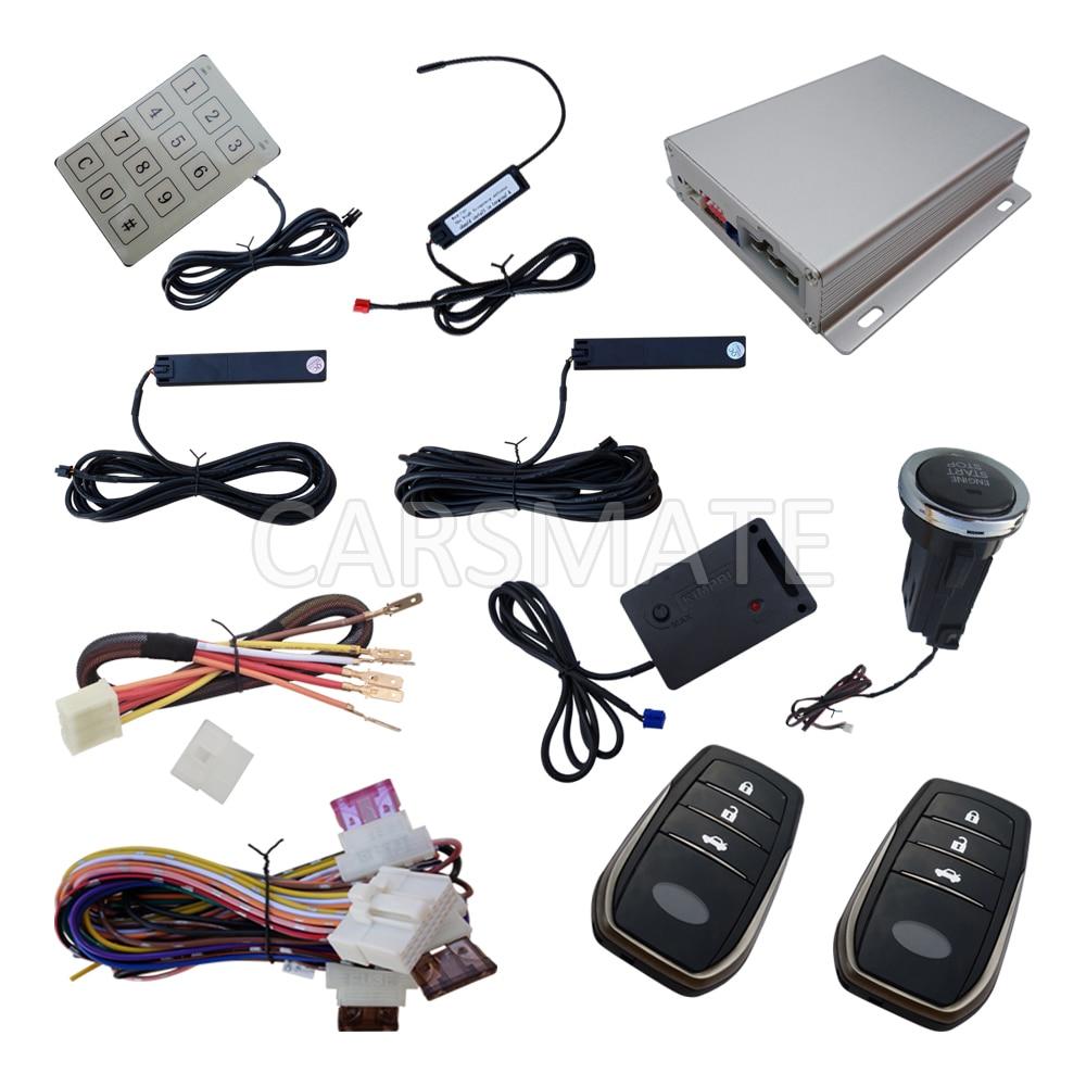 Плавающий код PKE сигнализации автомобиля системы с длинными Кнопка Smart двигатель дистанционного пуска Авто Центральный дверной замок вибра