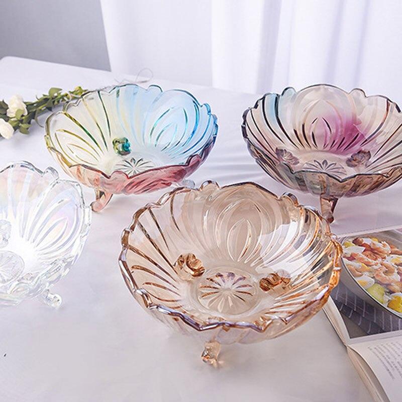 Couleur nordique cristal bonbons pot salon décoratif sucrier ménage stockage verre bonbons plat