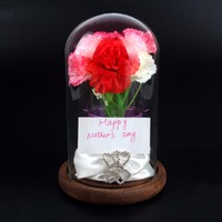 Wedding Favors 4 7 Bell Jar Glass Display Dome With Wooden Base Mother S Days Gift