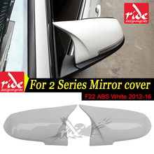 Replacement M-Style High-quality ABS Pure White Rear View Mirror Cover Decoration For BMW 2-Series F22 220i 228i 230i 235i 12-16