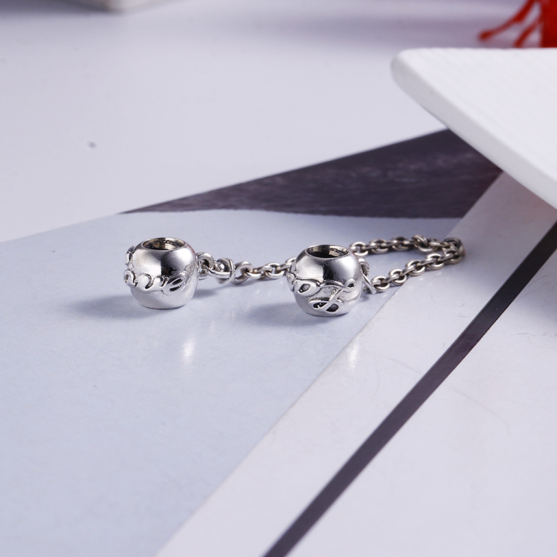 Authentic 100% 925 Sterling Silver Fit Original Pandora Bracelet Love Always Safety Charms DIY Charm Beads for Jewelry Making