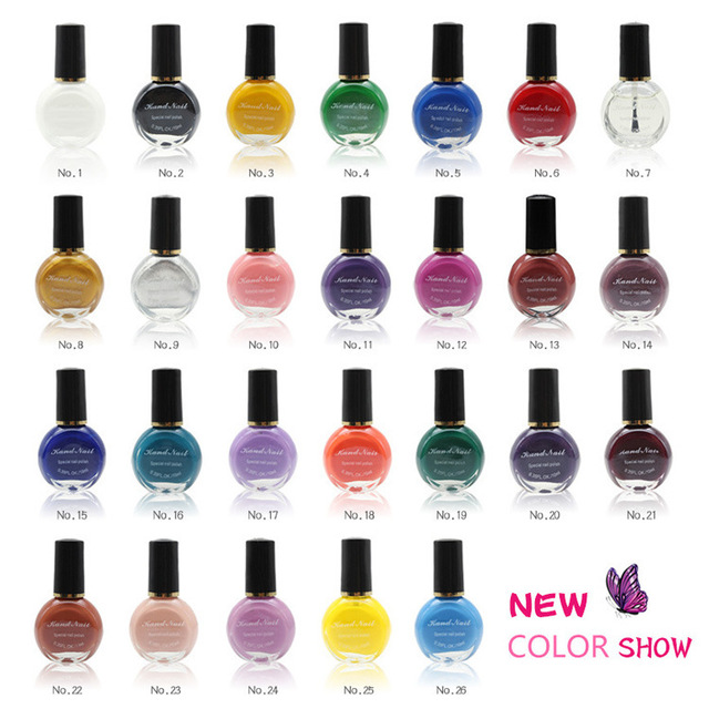 26Colors to choose 1 bottles Professional Painting Konad Nail ...