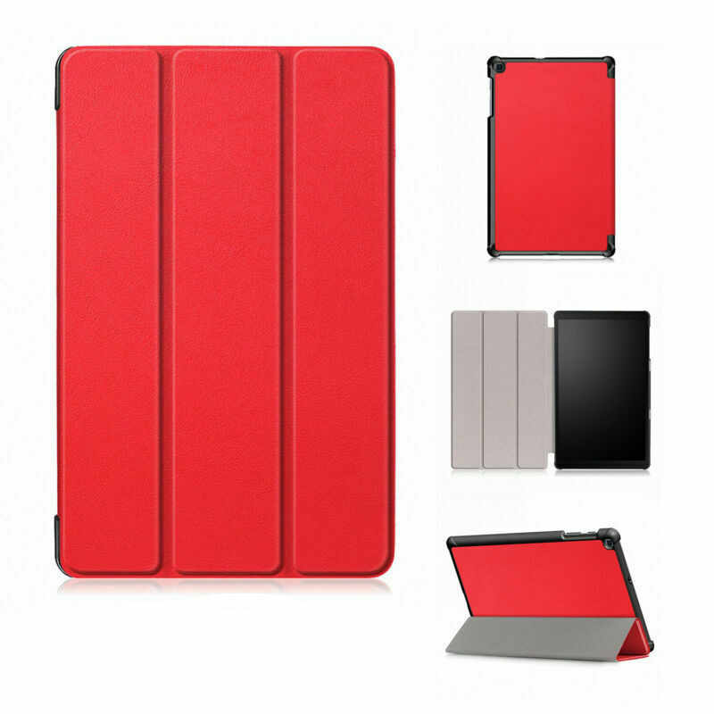 Tab 10.1 2019 Magnetic Smart Case untuk Samsung Galaxy Tab 2019 SM-T510 SM-T515 T510 T515 Tablet Folio PU kulit Funda Case