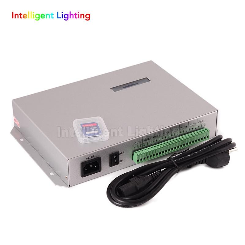 T-300K SD Card online VIA PC RGB Full color led pixel module controller T300K 8 ports 8192 pixels ws2811 ws2801 100pcs ws2801 pixel node round model 1pcs 12v 60w power supply sd card pixe module controller pre set easy to use