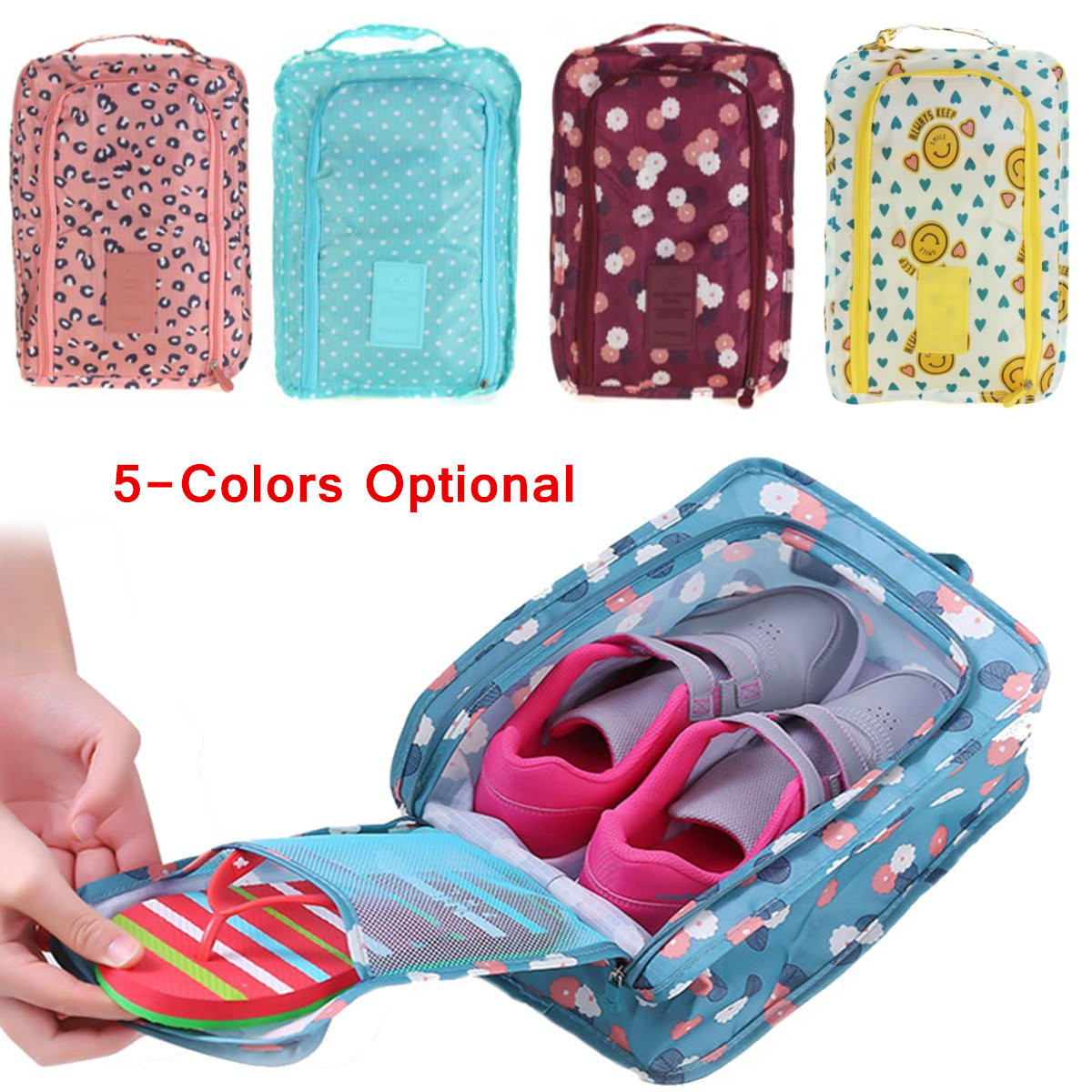 30 X 21 X 11cm Waterproof Travel Tote Shoes Storage Bag Oxford Cloth Portable Organizer Bags Carry