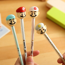 12PCS Mario Gel Pen With Stamp Kids happy birthday party supply for girl boy baby shower party favors souvenirs return gift