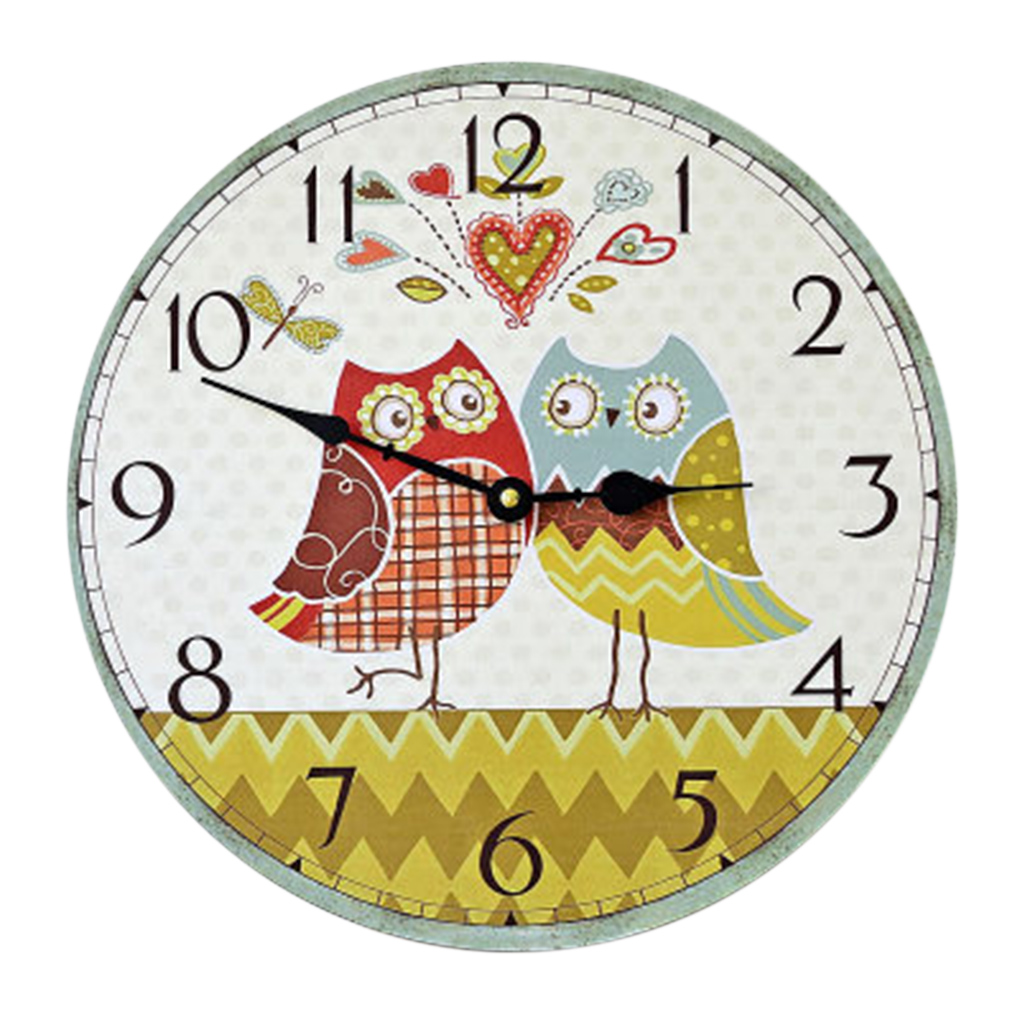 Unique style 14inch home digital round wood wall clocks owl unique style 14inch home digital round wood wall clocks owl printing living room quartz watches in wall clocks from home garden on aliexpress amipublicfo Choice Image