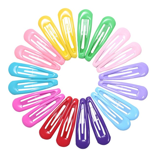 20 piezas 5 cm pinza de pelo para horquillas BB horquillas Color Metal Barrettes para bebés niños mujeres niñas estilo de accesorios
