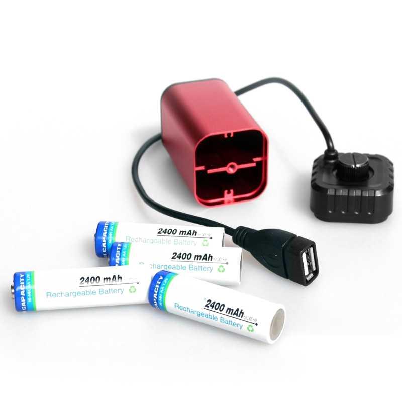OOTDTY Водонепроницаемый 5 В USB Портативный 4X AA Батарея Зарядное устройство Держатель Комплект Мощность банк чехол красный Батарея Зарядное устройство коробка