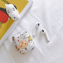 Hard PC Dumbo Cover PEANUTS Charlie Brown Transparent Cute Cartoon Earphone Matte Case for Apple AirPods 1 2 Charging Box Cases