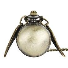 Ретро шарообразные кварцевые карманные часы модный свитер Крылья Ангела ожерелье цепь Подарки для мужчин женщин детей