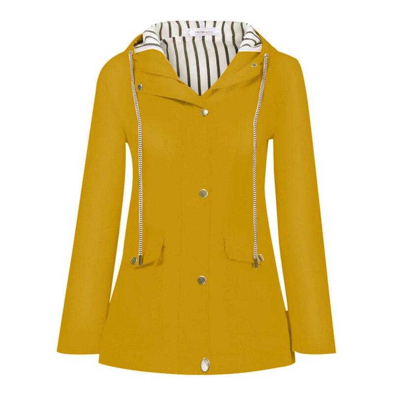 Rain Coat Women Plus Size Coat 2018 Long Sleeve Waterproof Jacket Hooded Raincoat Jacket Women Clothes Warm Coat Girl #O11 (40)