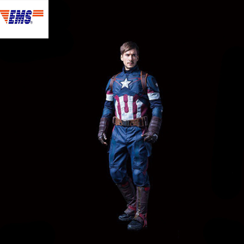 Avengers: Infinity War 1/1 Captain America Costume de Combat Cosplay vêtements ensemble complet figurine Action Collection modèle jouet X678