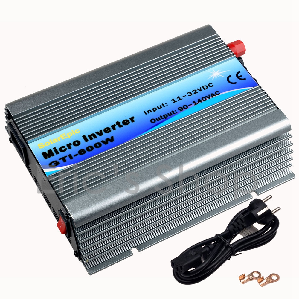 600W Grid Tie Inverter DC11V-32V to AC110V(90-140VAC) Pure Sine Wave Power Inverter Use For 18V/36cells Solar Send from CN/US free shipping 600w wind grid tie inverter with lcd data for 12v 24v ac wind turbine 90 260vac no need controller and battery