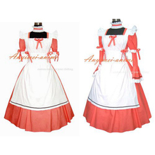 Envío gratis sexy cotton dress sissy maid uniforme bloqueable cosplay traje hecho a medida