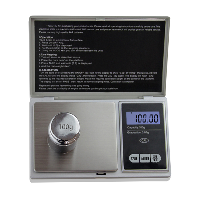 Precision Digital Scales 100g x 0.01g Reloading Powder Grain Jewelry Carat Black With Three Weighing Modes 30g 0 001g precision lcd digital scales gold jewelry weighing electronic scale