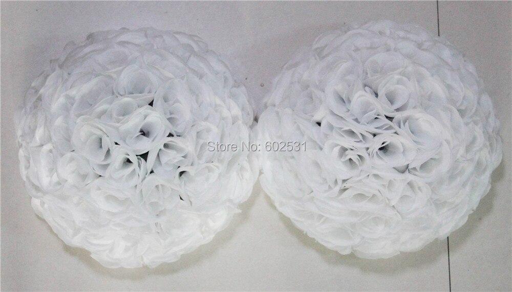 SPR 40 см 4 шт./лот белый искусственный шар из цветков розы стол цветок стены