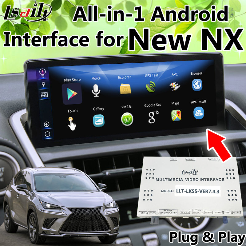 All in 1 Android GPS Navigation for New Lexus NX Integrated Video Interface OEM Touch Sensor Control WIFI Online Map App etc.