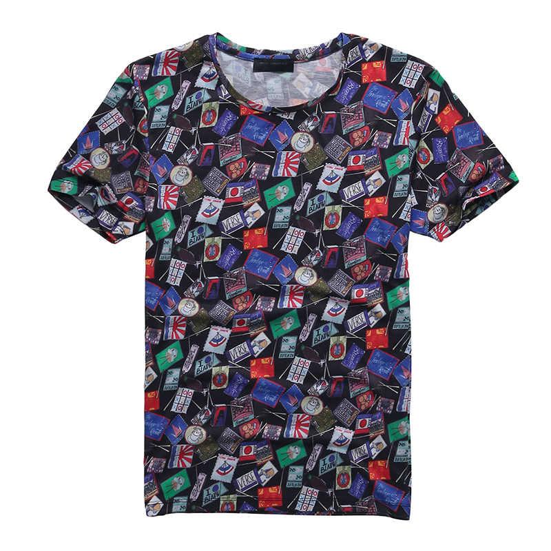 2019 новая мужская футболка повседневная с коротким рукавом и круглым вырезом модная забавная Мужская 3D Футболка с принтом/женские футболки высокого качества брендовая футболка hombre