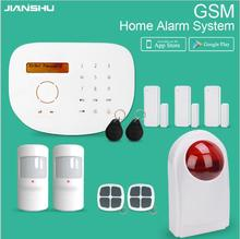 433mhz GSM Alarm System IOS Android APP Control SMS Home Security Alarm System multi Languages Wireless