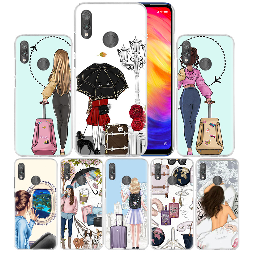 Vogue Girl Travel Case for Xiaomi Redmi Go Note 7 6 6A Pro S2 5 5A 4X Mi A1 A2 9 Mix 3 5G 8 lite Play F1 Hard PC Phone Cover NEW