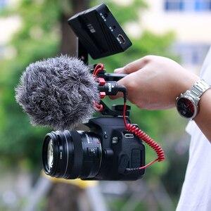 Image 3 - Aluminium DSLR Top Poignée Grip w 3 Froid Supports de Chaussures 1/4 3/8 pour Moniteur Microphone Vidéo Lumière à sony A6400 6300 Nikon Canon