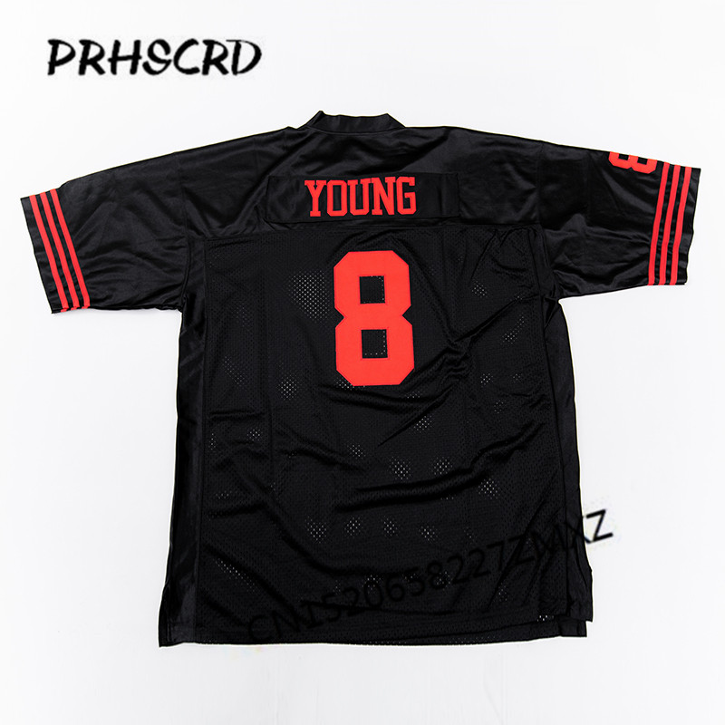 a5a7db667 Retro star  8 Steve Young Embroidered Throwback Football Jersey-in America Football  Jerseys from Sports   Entertainment on Aliexpress.com