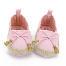 Toddler Kids Girls Flower Soft Soled Crib Shoes Canvas Baby