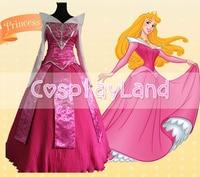 Beautiful Adult Sleeping Beauty Aurora Princess Dress Cosplay Costume Custom Made Halloween Party Aurora Princess Costume