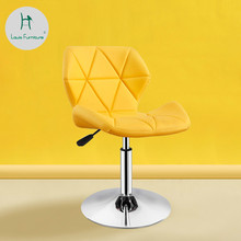 Louis Fashion Office Chairs Revolving Modern Simple High Bar Bar Backrest Stool Lifting