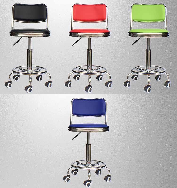 coffee tea house wheel chair black red green blue color household stool living room chair free shipping public house chair blue red brown color bar coffee house stool free shipping