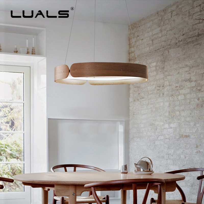 Nordic Raw Wood Pendant Lights LED Pendant Lamp Restaurant Suspension Luminaire Indoor Wood Pendant light Home Art Deco Lighting|Pendant Lights| |  - title=