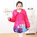 New 4-7 yrs children clothing coats Cinderella girls winter warm Coat For children cotton padded jacket girls outer wear
