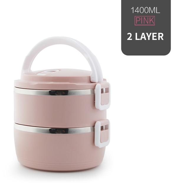 2 Layer Pink Cheap bento boxes 5c6479e2ef006