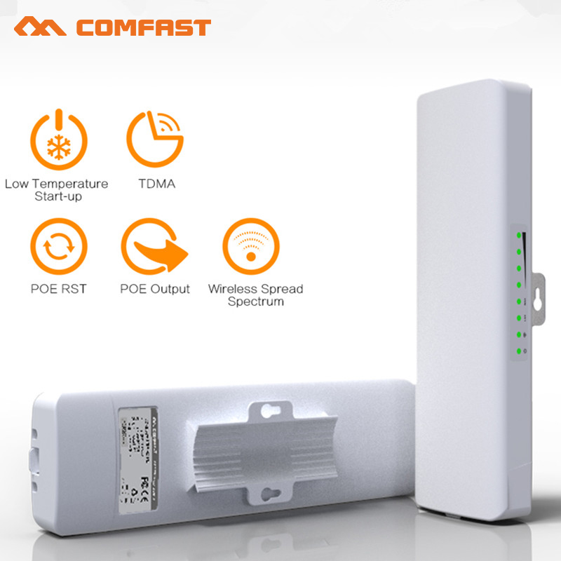 COMFAST 300Mbps High Power Outdoor Wireless CPE/ wifi repeater/wifi router/AP bridge POE antenna for wi-fi Receiver/transmitter comfast 300mbps high power wireless bridge cpe router 2 4ghz outdoor access point cpe wifi repeater with 2 16dbi wi fi antenna