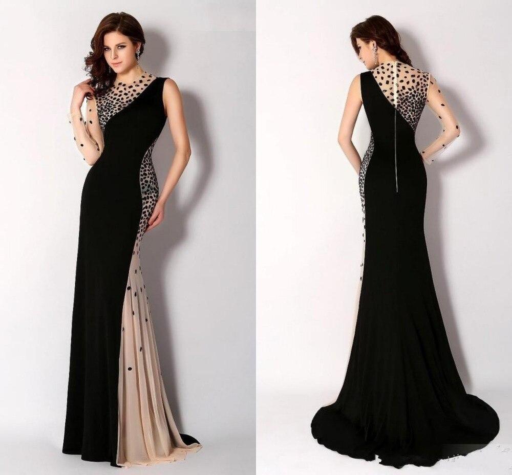 Новые черный высокая шея вечерние платья полный одно плечо русалка мода роскошные ну вечеринку платья на заказ кристаллы выпускного вечера