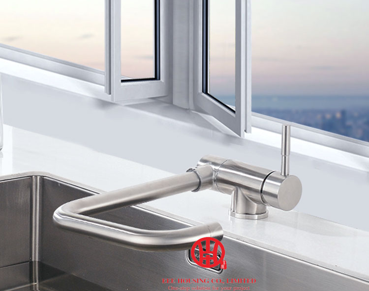 Free Shipping, Flexible Kitchen Faucet, 304 Stainless Steel Sink Faucet,Single Handle Mixer Sink Tap Kitchenware Accessories