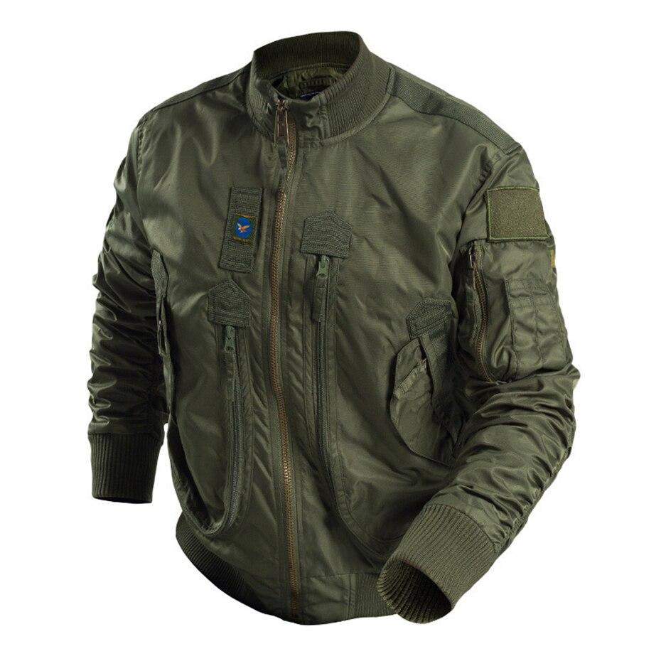 Hommes mode Bomber veste tactique Air Force pilote veste printemps automne coupe-vent manteau extérieur randonnée Camping