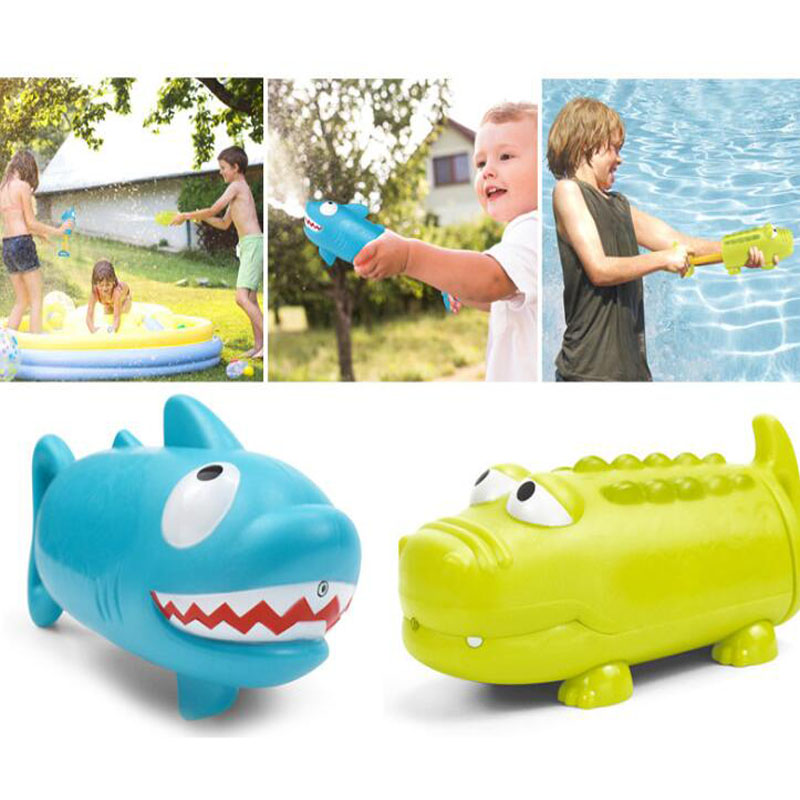 Children's Summer Crocodile Shark Water Gun Game Toy Summer Outdoor Swimming Toy Suction Lightweight Portable Spray Gun Toy