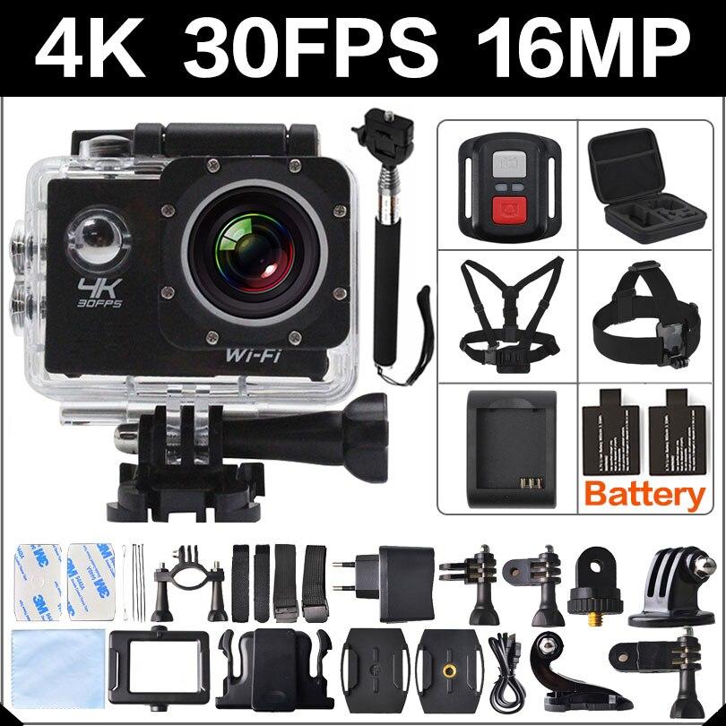 4 K 30FPS 16MP WIFI Acción Cámara 2 Deportes HD 1080 P 60fps Cam submarina depor