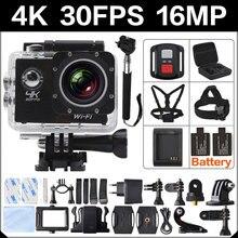 4 К 30FPS 16MP Wi-Fi Экшн-камера 2 Спорт HD 1080 P 60fps Cam Подводные Депортива Go водонепроницаемый YL 4 К 170D 3 Pro Hero Спорт Cam