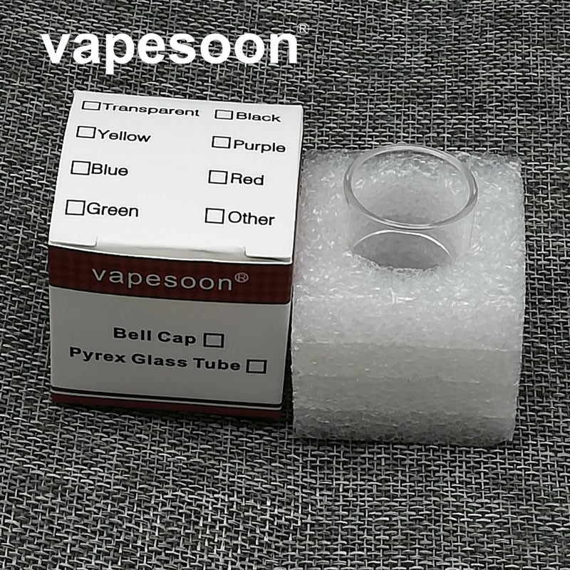 VapeSoon 100% Original Pyrex Glass tube Tank Replacement for Uwell Crown3 glass tube Electronic Cigarette 1pc