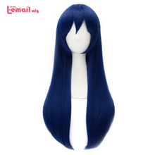 L mail parrucca Brand New Love Live Sonoda Umi Lunghe Parrucche di Cosplay LoveLive Cosplay Blu Scuro Parrucca Resistente Al Calore capelli sintetici