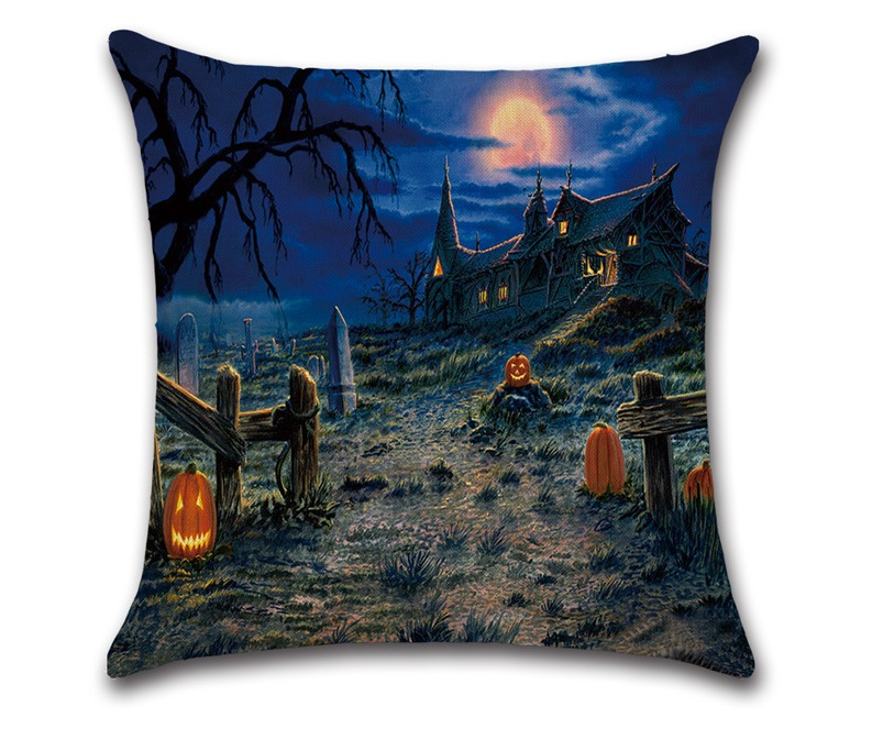 Image 3 - CAMMITEVER Halloween Black Cat Moonnight Cover Decorative Throw Pillow Sofa Home Decor Decorativos Coussin Almofada Cojines-in Cushion Cover from Home & Garden