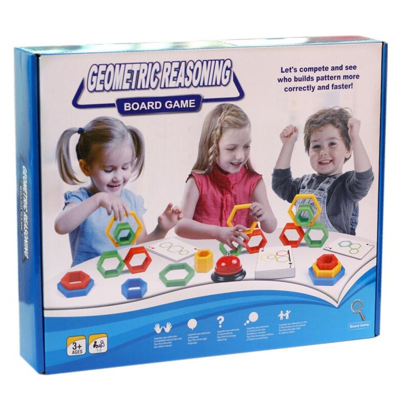Geometric reasoning space thinking toy grabbing problem solving children's competitive board game intellectual power toy image