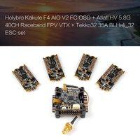 Holybro Kakute F4 AIO V2 FC OSD + Atlatl HV 5.8G 40CH Raceband FPV VTX + Tekko32 35A BLHeli_32 ESC RC Racing Drone Quadcopter
