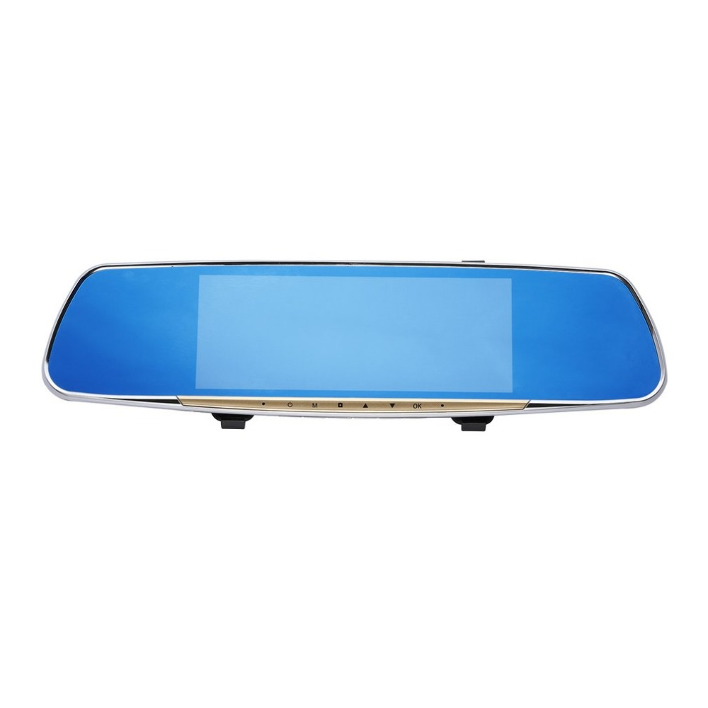 Car DVR 7inch Navigation Motion Collision Detection Cycle Record Wide Angle HD Rear-view Mirror Vehicle Traveling Data Recorder