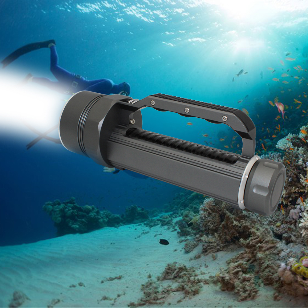 High Quality Diving Flashlight XM-L2 LED Flashlight Underwater Torch Waterproof Diver Light with 26650 Battery